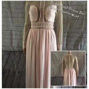 Dresses & Skirts - NWOT Long Sleeve Long Dress, Blush, Various Sizes